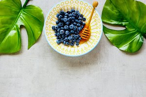 Wild blueberry bowl