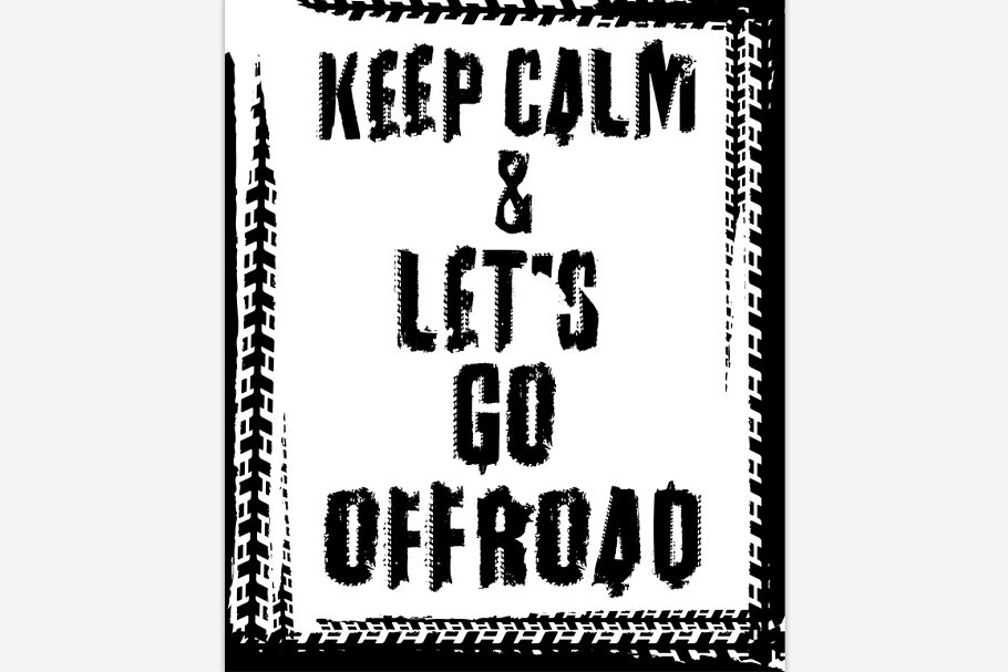 Off Road Quote Poster