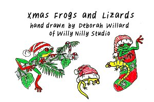 Xmas Frogs and Lizards