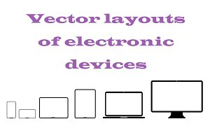 Flat layouts of electronic devices.