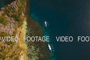 Beautiful tropical lagoon, aerial