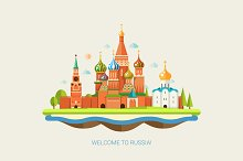 St. Basil's Cathedral Illustration