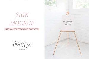 Easel Mockup | Seating Chart Mockup