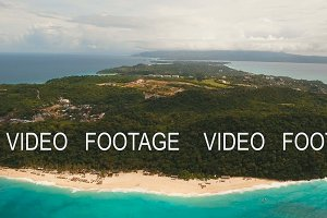 Aerial view beautiful beach on