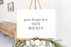 Wedding Sign Mockup | Easel Mockup