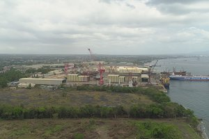 Shipyard with crane, Batangas