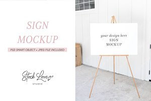 Sign Mockup | Wedding Easel Mockup