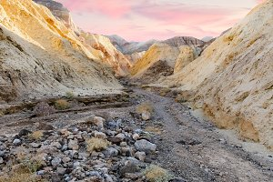 Golden Canyon in Death Vally
