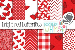 Red Butterfly Patterns