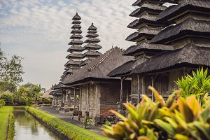 Traditional balinese hindu Temple