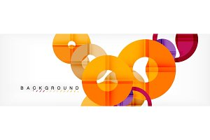Geomtric modern backgrounds, rings