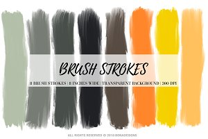 Autumn Brush Strokes Clipart