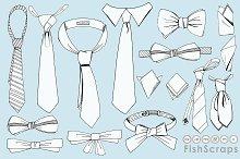 Men's Tie Line Art - Father's Day