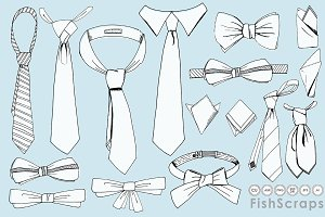 Men's Tie Line Art - Father's Day