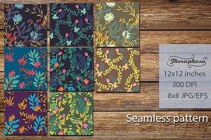 8JPG/EPS seamless floral pattern