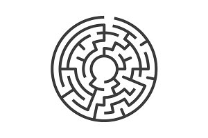 Circular maze isolated