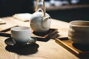Tea cup with freshly brewed tea