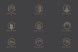 Elegant Real Estate Logo Pack