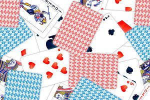 Realistic playing cards pattern