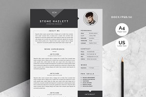 Modern Resume Template 4 Pages