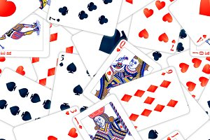 A lot of realistic poker cards