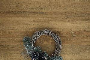 Close-Up Of Wreath Hanging On Door