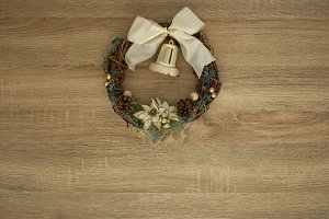 Close-Up Of Wreath Hanging On Door