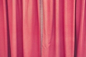 red curtain fabric background
