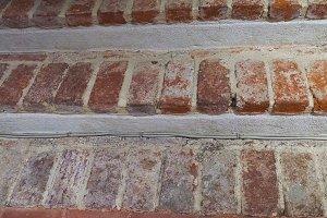 red brick stair steps