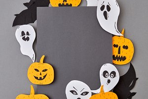Handcraft paper greeting card with