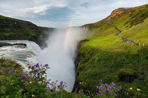 Beautifull Gullfoss waterfall