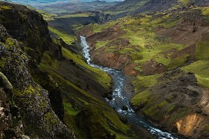 River below Haifoss waterfall
