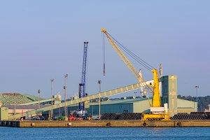 Industrial port facilities in Spain