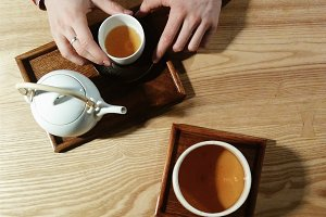 Metting a friend over a cup of tea