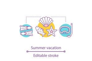 Summer vacation concept icon