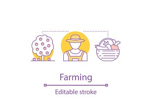 Agriculture concept icon