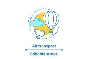 Air transport concept icon