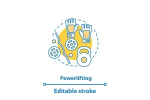 Powerlifting concept icon