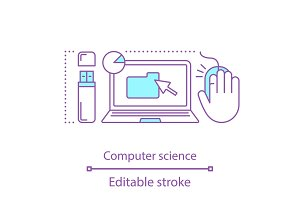 Computer science concept icon