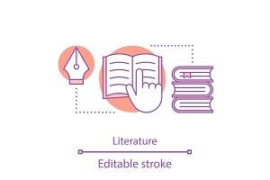 Literature concept icon