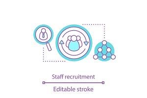 Staff recruitment concept icon