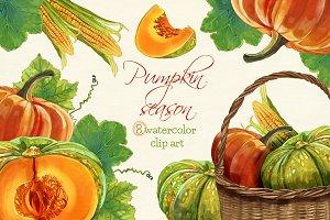 Pumpkins clipart, Harvest clipart