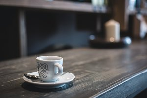 Close up picture of espresso cup