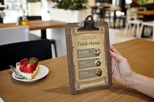 Restaurant Food Menu Flyer -V856
