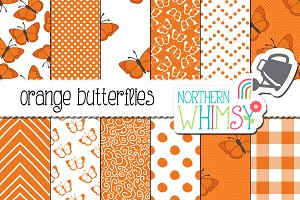 Orange Butterfly Patterns