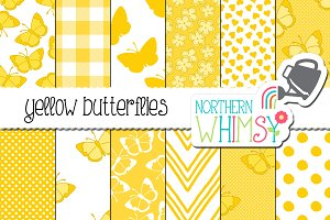 Yellow Butterfly Patterns