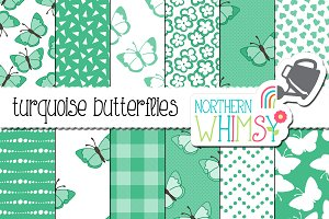 Turquoise Butterfly Patterns
