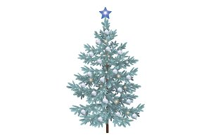 Christmas spruce fir tree with