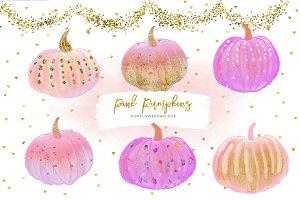 pink pumpkin clipart