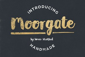 Moorgate brush script font